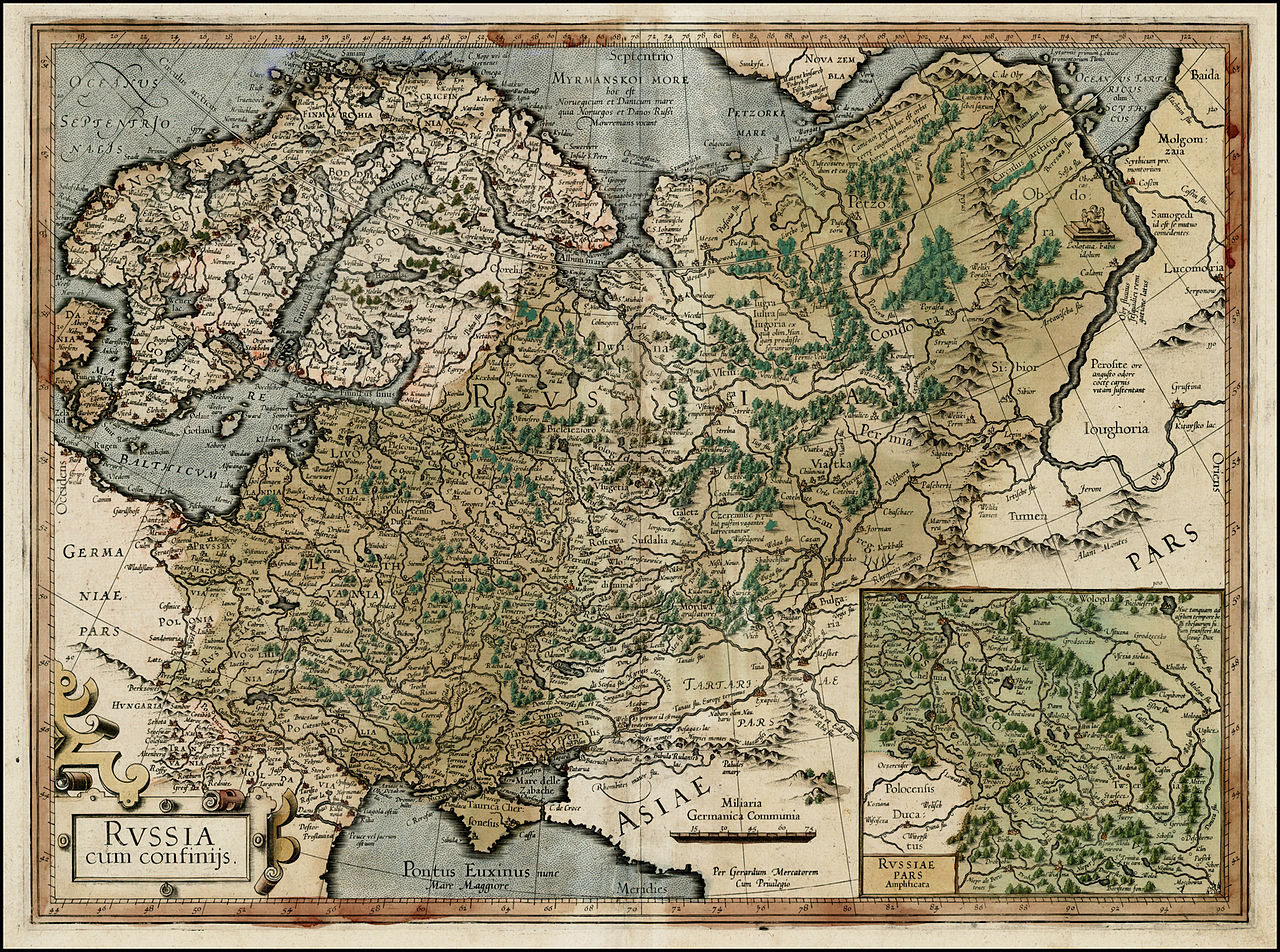 1595Russia, Меркатор, 1595