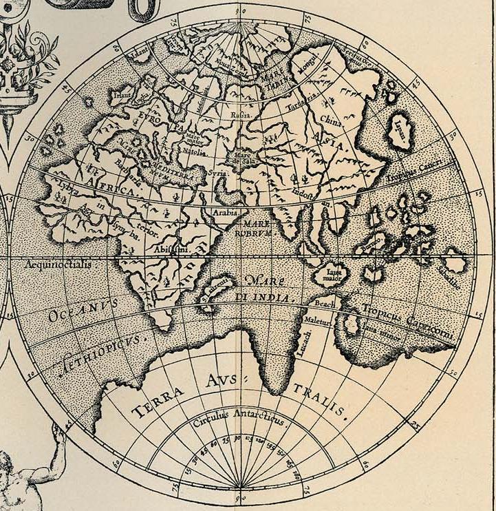 1598 Корнелис ван Вейтфлит - Карта мира, 1598