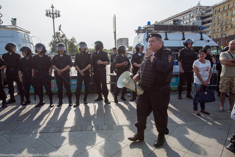 ГОЛОСУЙ, РАБОТАЙ, СДОХНИ! Как Москва протестовала в день выборов (фото)