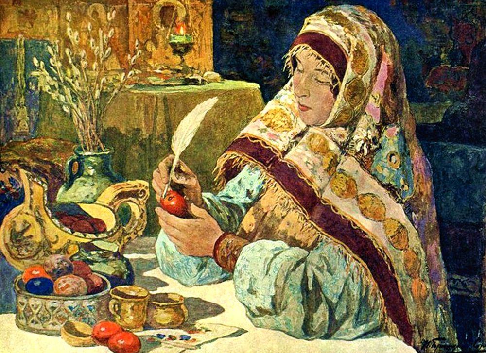 И. С. Горюшкин-Сорокопудов (1872-1954). Канун Пасхи в старину 1914