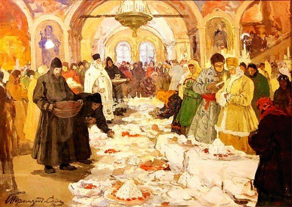 И. С. Горюшкин-Сорокопудов (1872-1954). Освящение куличей