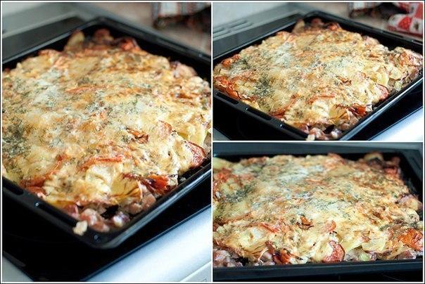 Картошка в духовке с майонезом сыром рецепт пошагово