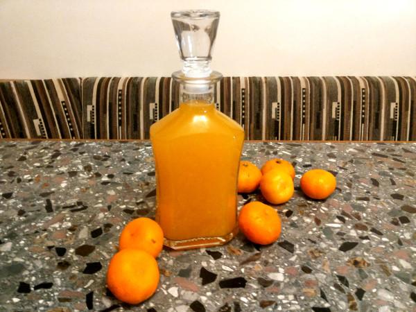 Настойка из водки на мандаринах