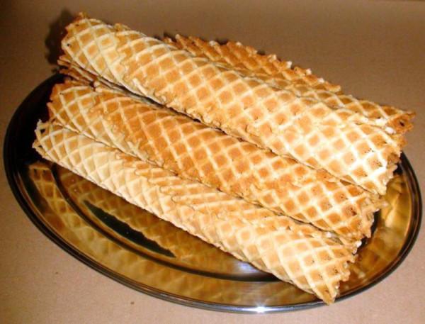 Трубочки вафельнице рецепт фото крем