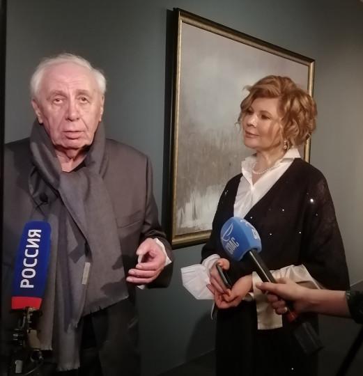 Юрий Купер и куратор выставки Ольга Шепельская