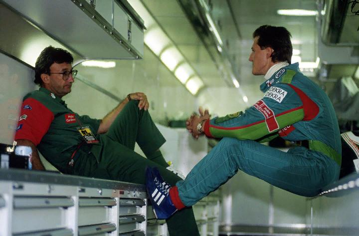 Эдди Джордан и Михаэль Шумахер, 1991 год