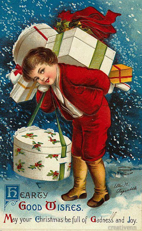 рождество-старинные-дети-110