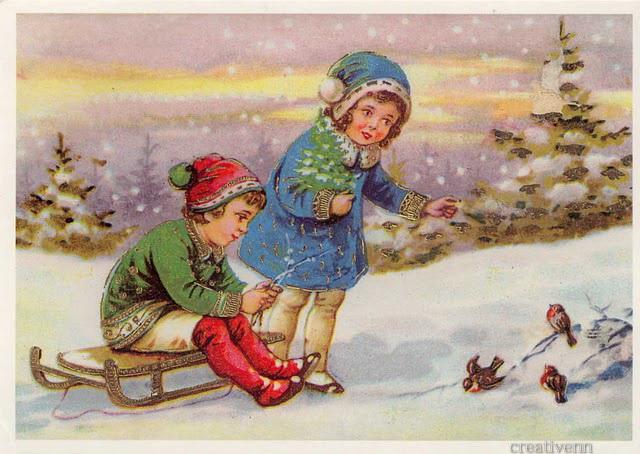 рождество-старинные-дети-123