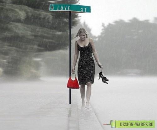Почему под дождем человек идет без зонта 196