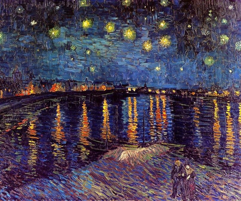 Звездная ночь над Роной. Винсент Ван Гог. сентябрь 1888г ... Звездная Ночь над Роной Ван Гог