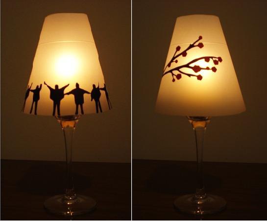 Как сделать бокал-светильник своими руками