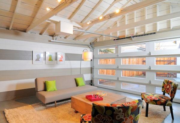 Garage-Turned-Lounge