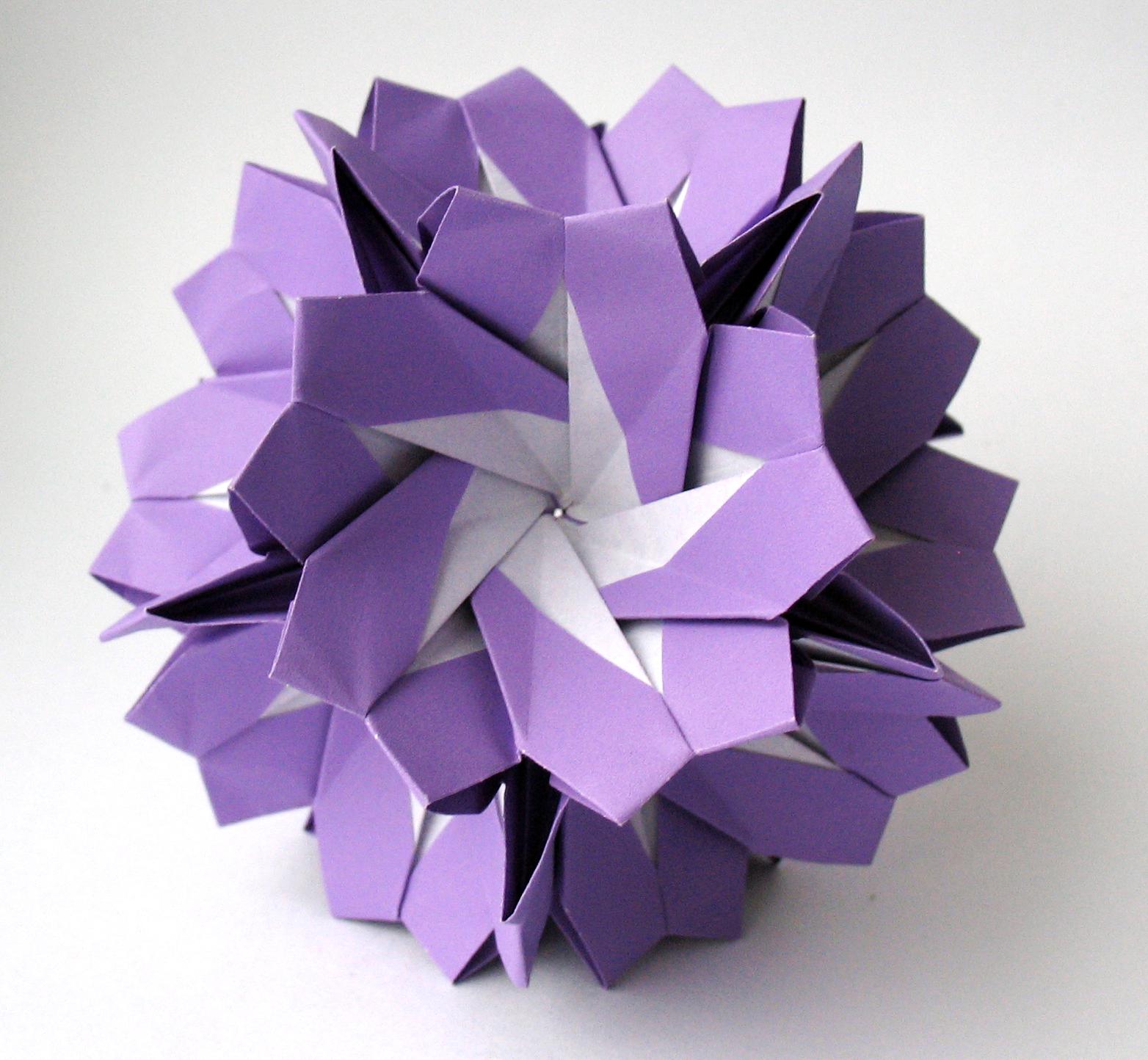 кусудама волшебный шар схема из одного листа бумаги