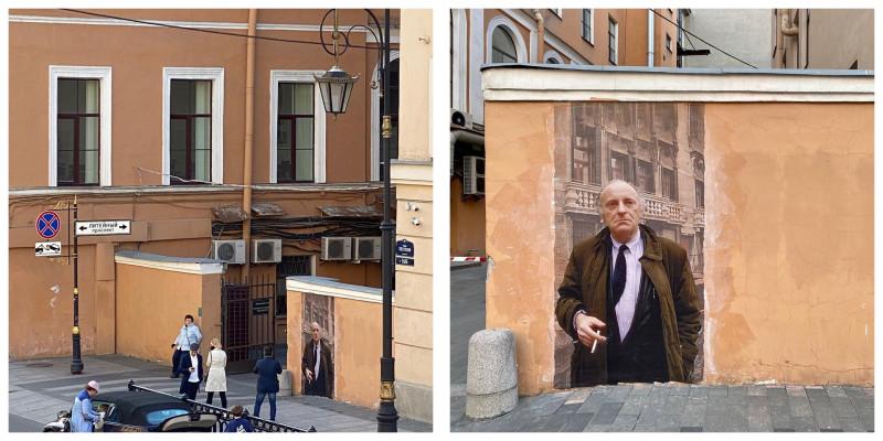 В Петербурге закрасили новое граффити с Бродским