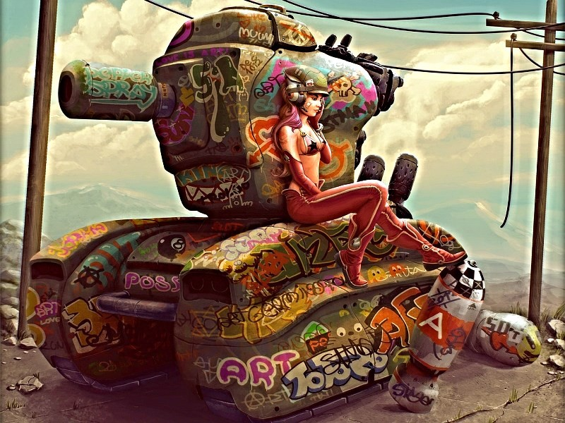 Девушка в ГИБДД -Где можно получить права на вождение танка? -Да катайтесь так, кто вас остановит?)