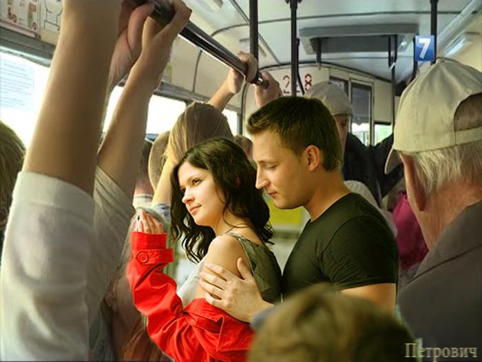В автобусе прижал видео #2