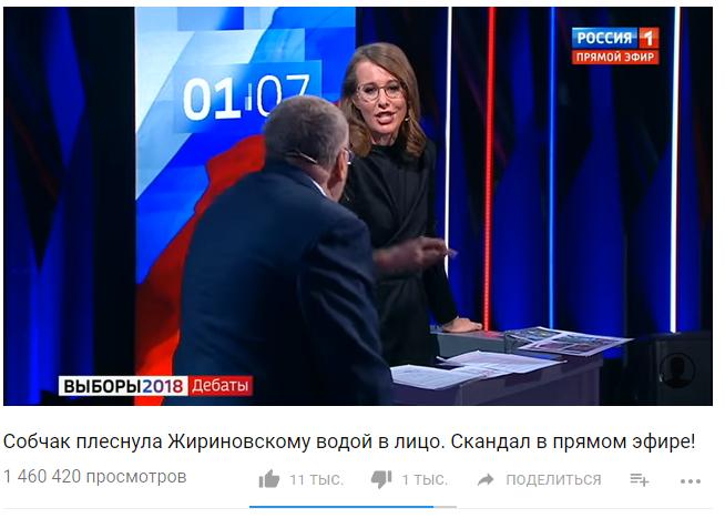 Собчак плеснула Жириновскому водой в лицо. Скандал в прямом эфире!1 460 420 просмотров