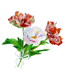 Background with pink white peony2-05_1