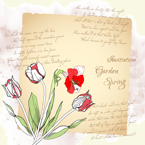 Background with bouquet of flowers-22_1