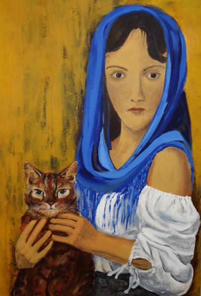 женщина и кошка1