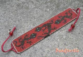 """В... Схема  """"крейзи ящериц """" оказывается с чешского сайта, там много весёлых мелких схемок для плетения браслетов из..."""