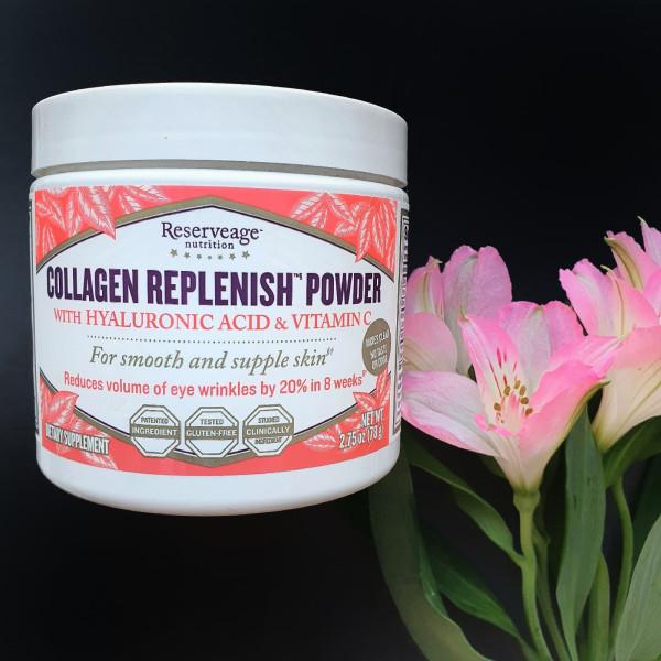 ReserveAge Nutrition, коллагеновый порошок Replenish с гиалуроновой кислотой и витамином С, 78 г