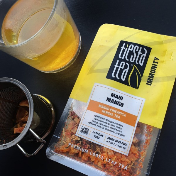 Tiesta Tea Company, Premium Loose Leaf Tea, Maui Mango, Caffeine Free, 2.2 oz