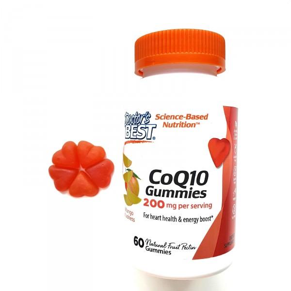 Doctor's Best, жевательный мармелад с коэнзимом Q10, со вкусом манго
