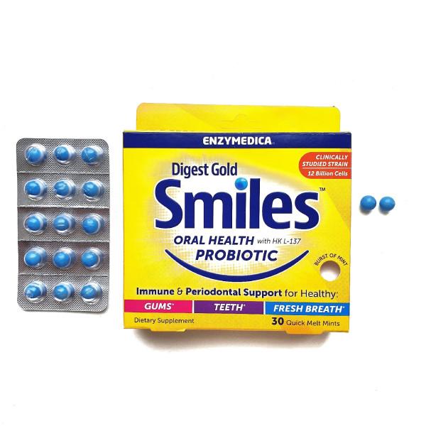 Золотая улыбка с Enzymedica. Мятные капсулы для здоровья полости рта.