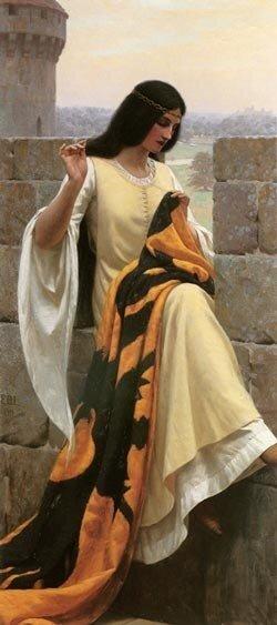 Э.Б.Лейгтон. Вышивающая знамя. 1911