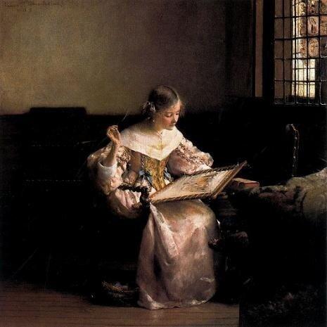 Л.Альма-Тадема. Вышивальщица. 1904