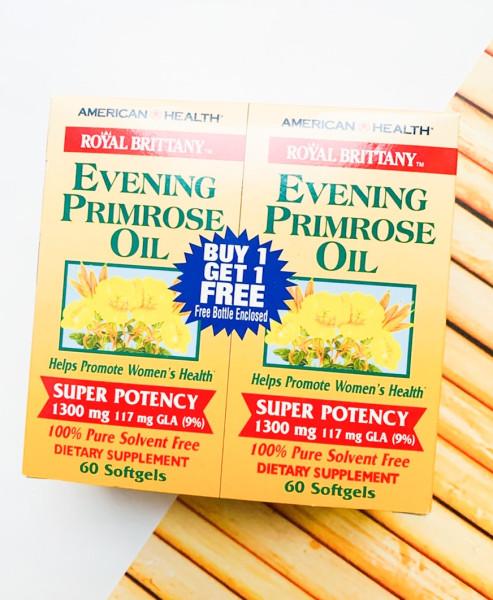 American Health. Royal Brittany, масло первоцвета вечернего, 1300 мг, 2 флакона