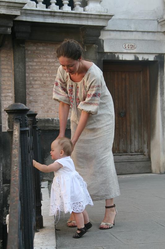 Venice Peasant Dress