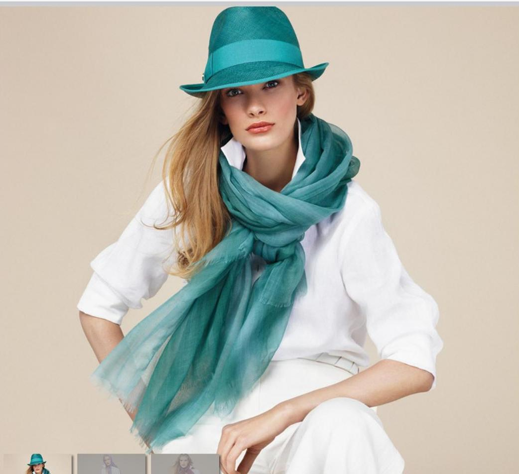 loro piana white and aqua