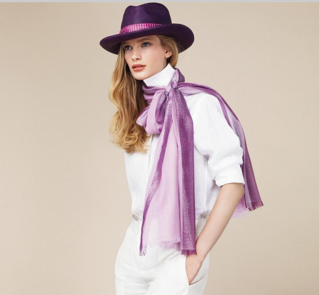 loro piana white and purple