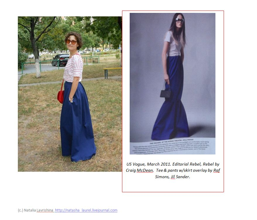 Lavrishina blog sweeping skirt makeover US Vogue editorial