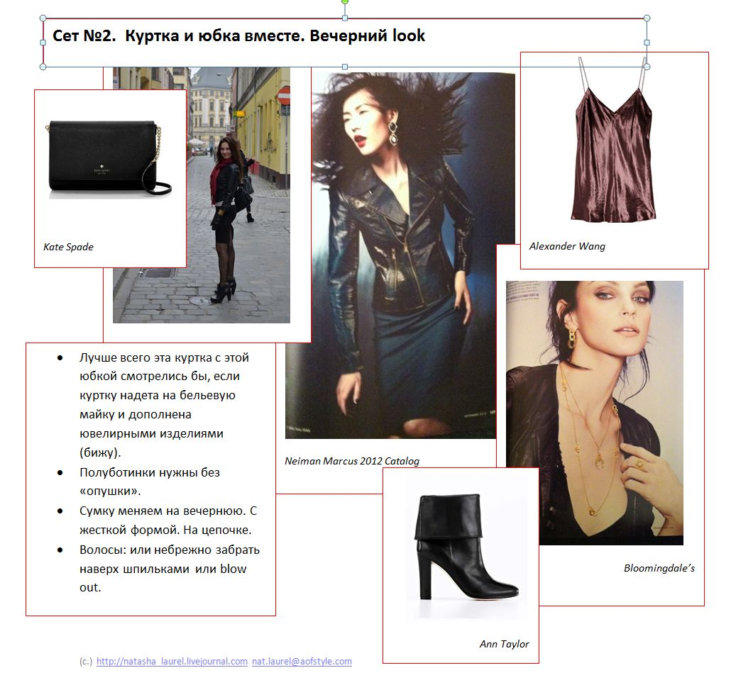 Lavrishina blog project look makeover 12 black leather look spread two eveing set