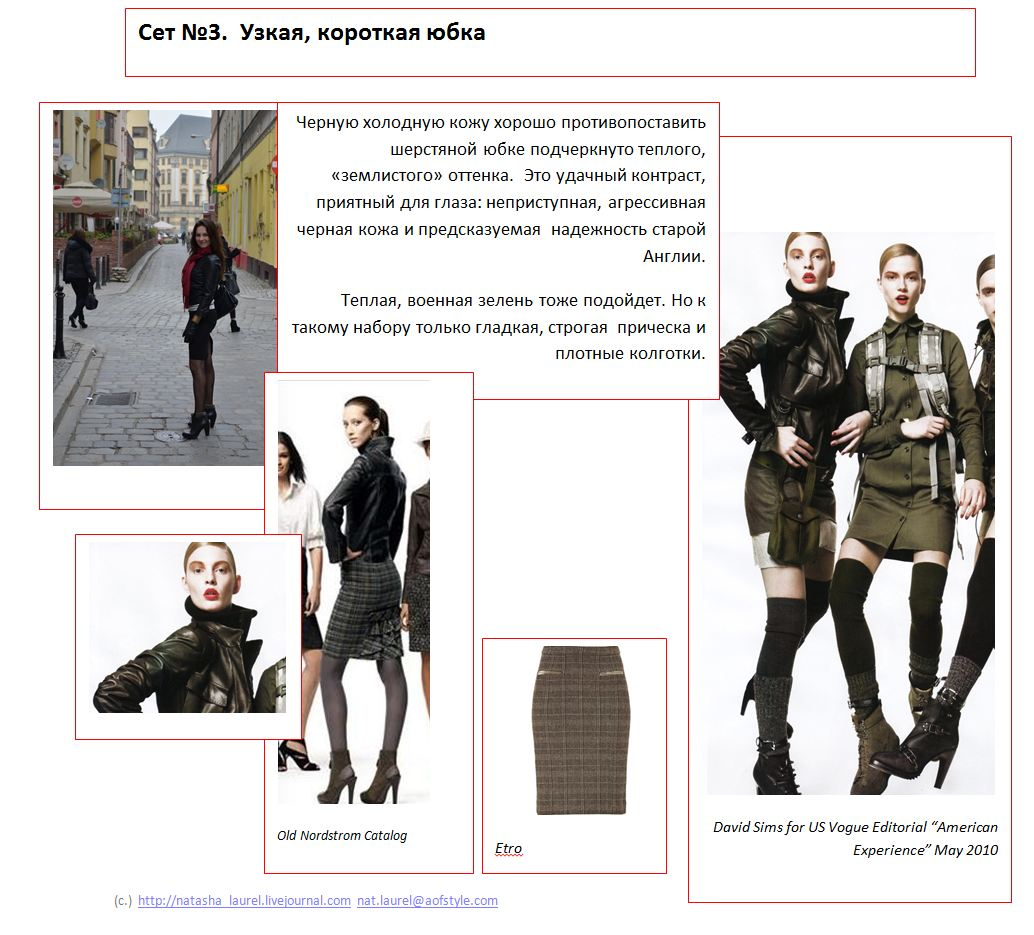 Lavrishina blog project look makeover 12 black leather look spread three skirts