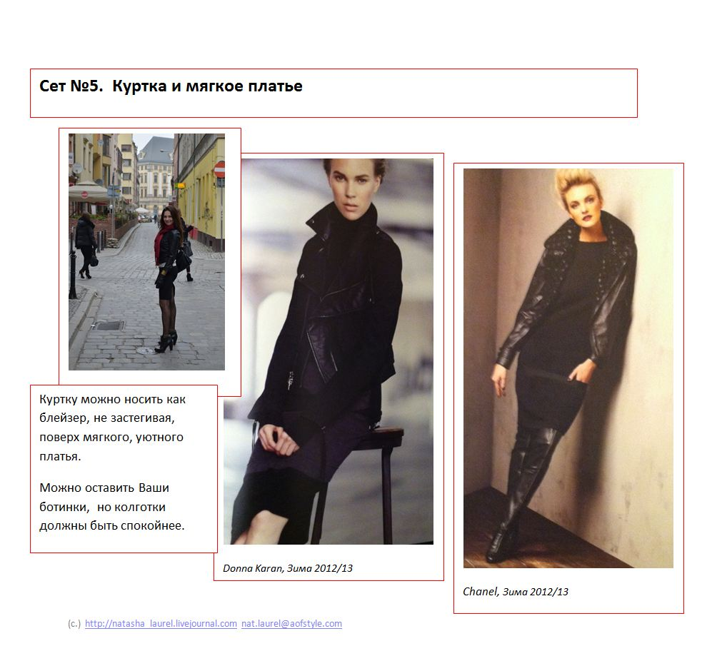 Lavrishina blog project look makeover 12 black leather spread five knit dress