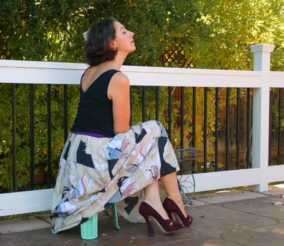Lavrishina blog how to wear your flouncy skirt back view