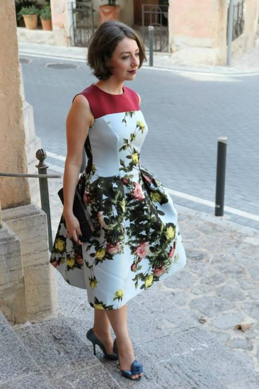 Lavrishina blog Carolina Herrera Floral Jacquard Dress Lena Wedding in Majorca