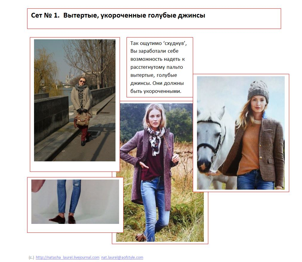 Lavrishina blog Look Makeover 14 Light Coat and Jeans Slide One