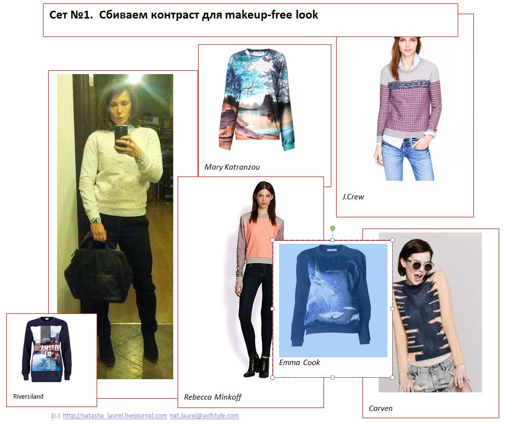 Lavrisina Blog Look Makeover 17 Black and White Sweatshirt Look Spread One