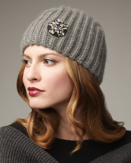 lanvin broch on a beanie