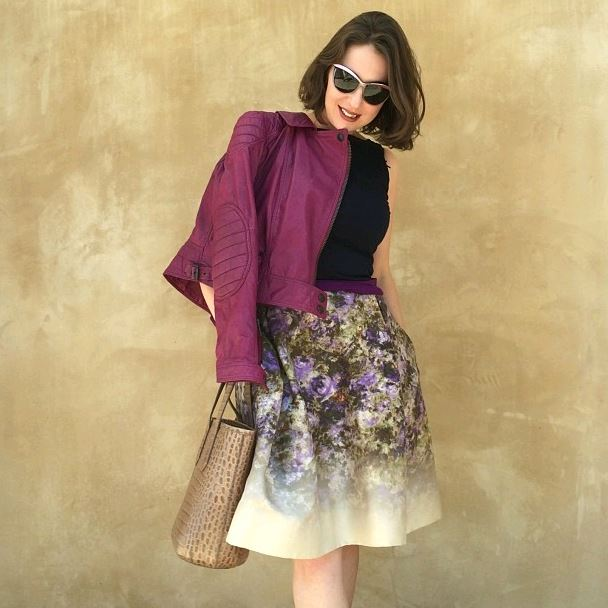 Lavrishina blog pecoraro skirt  floral monet print