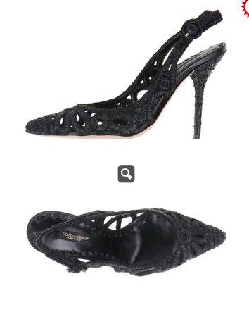 Dolce Gabbana Black Crochet