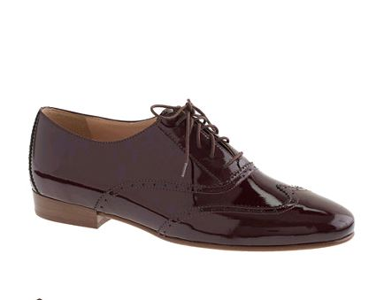 Garnet Flame Oxfords  Jcrew