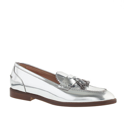 Biella Metallic Tassel Loafer Jcrew