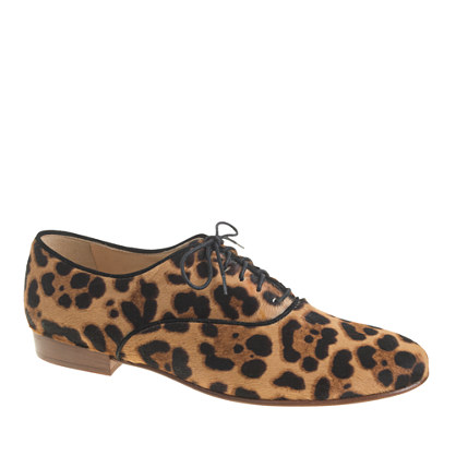 hazelnut leopard jcrew w  laceshoes