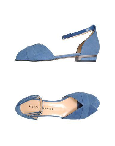 rebecca sanders suede sandals blue